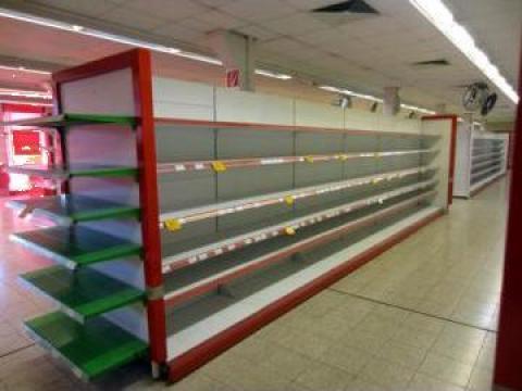 Rafturi, mobilier pentru supermarket alimentar