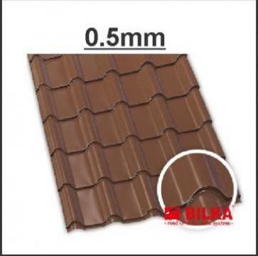 Tigla metalica Bilka Balcanic 0.5 lucios de la BDM Roof System