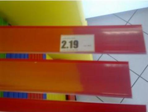 Sine de preturi cu adeziv pt rafturi supermarket