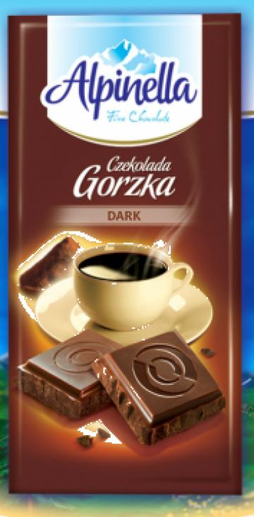 Ciocolata amaruie Alpinella 90 g