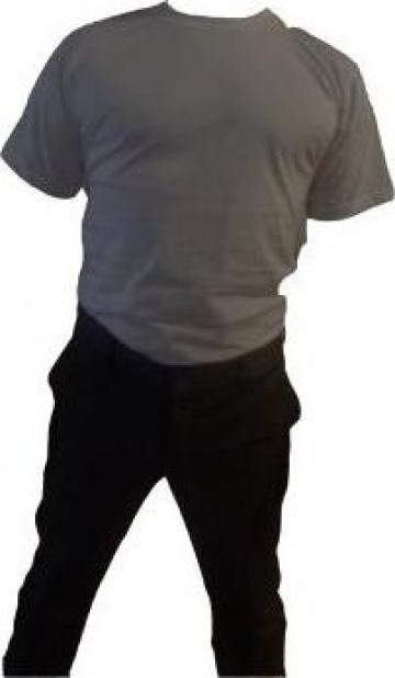 Tricou negru cu maneca scurta bumbac 100% de la Johnny Srl.