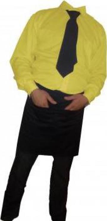 Camasa galbena cu maneca lunga bumbac de la Johnny Srl.
