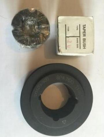 Roata de curea Spa 75x1 + bucsa conica de la Baza Tehnica Alfa Srl