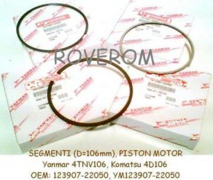 Segmenti piston motor Komatsu 4D106, Yanmar 4TNV106, d=106mm de la Roverom Srl