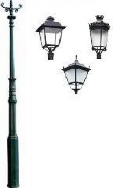 Stalp iluminat ornamental clasic fonta PLGFO21 de la Palagio System Group