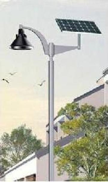 Stalp iluminat parcuri panou solar fotovoltaic PLGS11 20W de la Palagio System Group