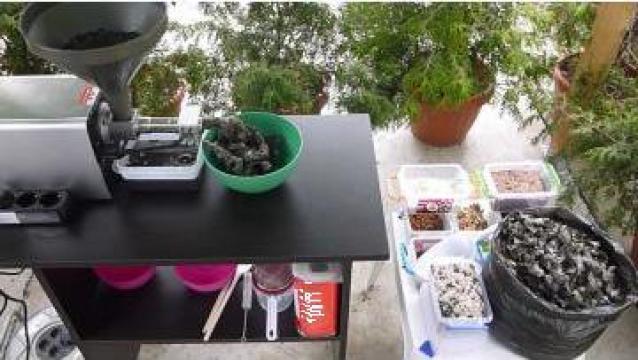 Utilaj extractie ulei din seminte de negrilica de la Presa Ulei