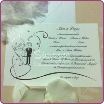 Invitatii de nunta cu plic OE#625 de la Simonne