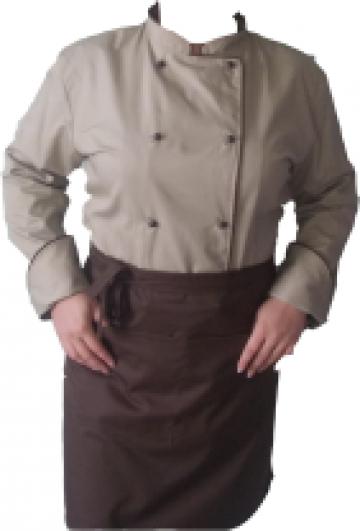 Costum bucatar maro cu bej de la Johnny Srl.