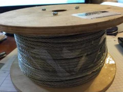 Cablu otel zincat 4mm, rola 100 m de la Baza Tehnica Alfa Srl
