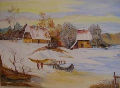 Pictura in ulei, Zi de iarna de la