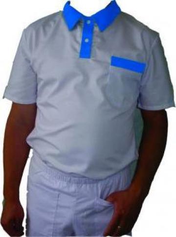 Tricou polo alb pt. servire