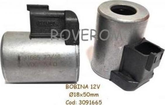 Bobina 12V, D18x50mm, electrovalva hidraulica