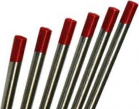 Electrozi wig-tig wolfram marcaj rosu 2.0mm de la Plasmaserv Srl