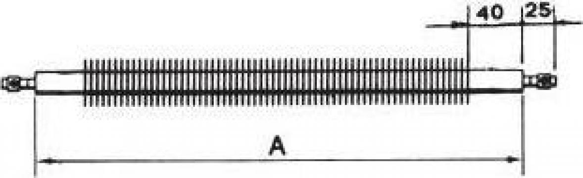 Rezistenta electrica cuptor din inox 16x1000 mm 3000 wati