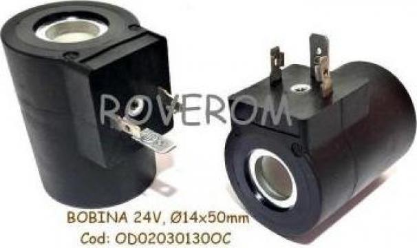 Bobina 24V, D14x50mm, electrovalva hidraulica de la Roverom Srl