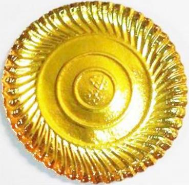 Farfurii cofetarie aurii 23 cm