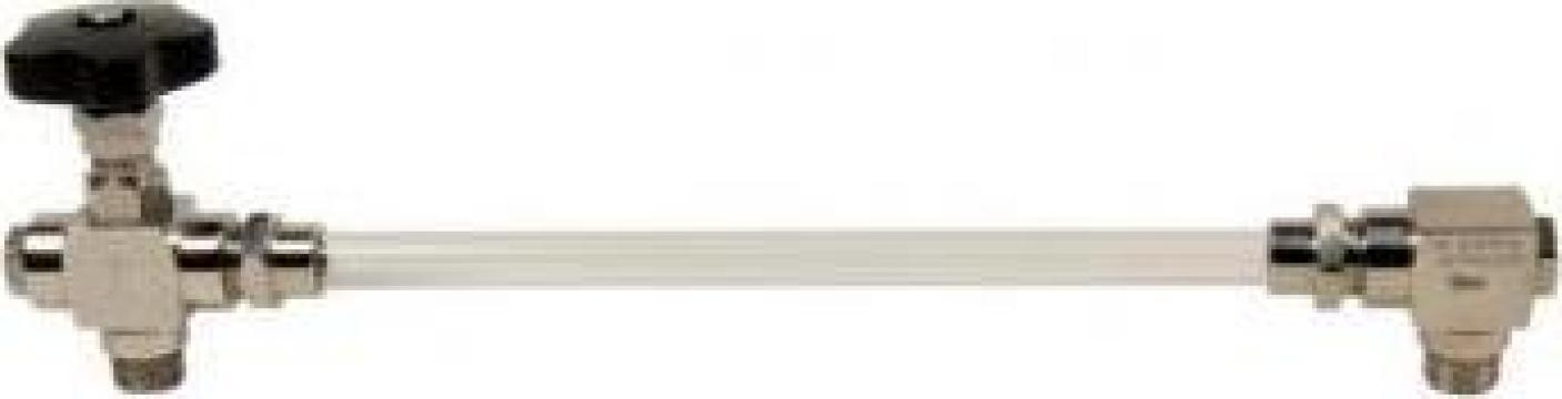 Indicatoare nivel inox cu tub plexyglass sau sticla