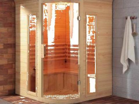 Sauna Finlandeza de colt Espoo 1500x1500x2040 mm
