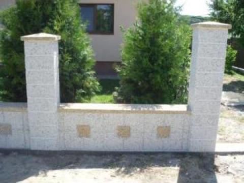 gard din beton piatra spalata liteni prefabet srl id 14546522. Black Bedroom Furniture Sets. Home Design Ideas