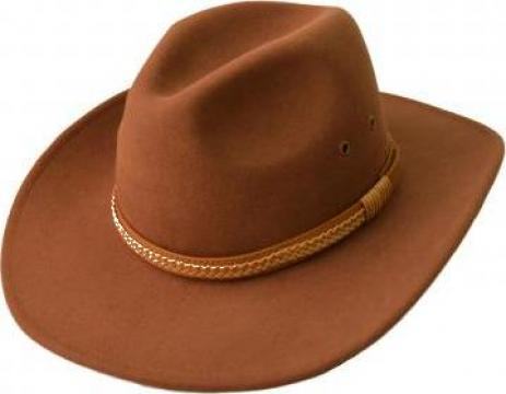 Palarie cowboy fetru bej de la David Rodica Eufrosina I.i