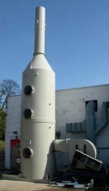 Instalatie pentru filtrare vapori de H2SO4 Scruber de la Termodesign Srl