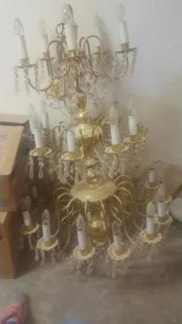 Candelabru Cristal De Bohemia de la