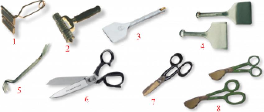 Instrumente utilizate pentru montarea pardoselilor elastice