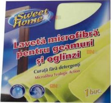 Laveta microfibra pentru geamuri