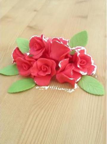 Set decor prajituri trandafiri mici de la Tat Agrovest Srl
