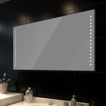 Oglinda de baie cu lumina LED 100 x 60 cm de la Vidaxl