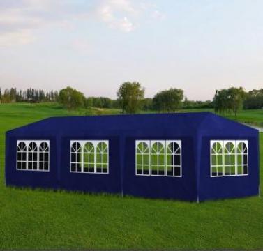 Pavilion pentru petreceri, 8 pereti, 9 x 3 x 2,5 m, albastru de la Vidaxl