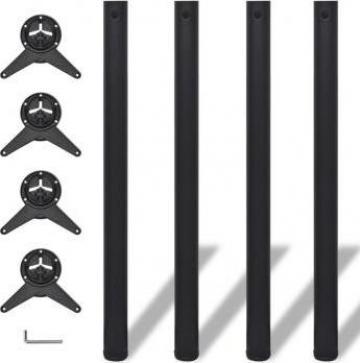 Picioare de masa cu inaltime reglabila, 870 mm, negru, 4 buc