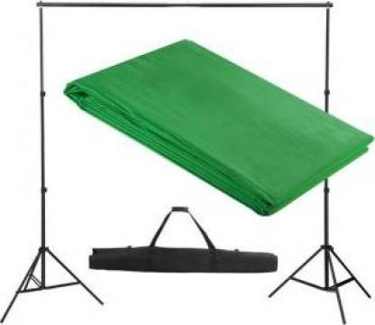 Sistem foto cu fundal verde 300 x 300 cm