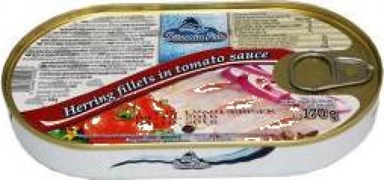 Hering fileuri in sos de tomate 170grame de la Lorimod Prod Com Srl
