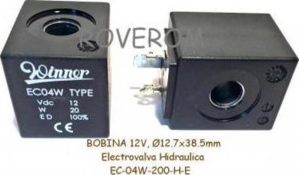 Bobina 12V, D12,7x38,5mm, electrovalva hidraulica de la Roverom Srl