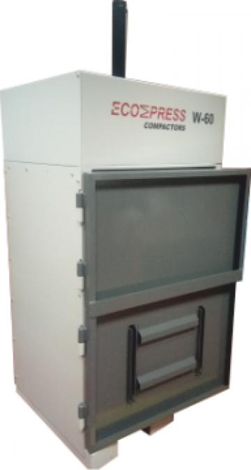 Compactoare verticale deseuri W-60 de la Ecompress Compactors Srl