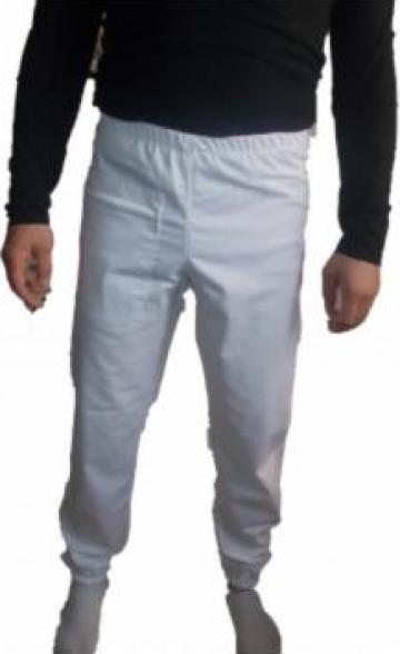 Pantalon alb tercot 200 grame