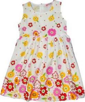 Rochie de vara din bumbac pentru fetite de la A&P Collections Online Srl-d