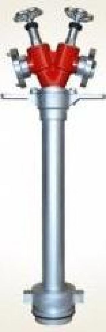 Hidrant portativ DN100 cu doua iesiri B