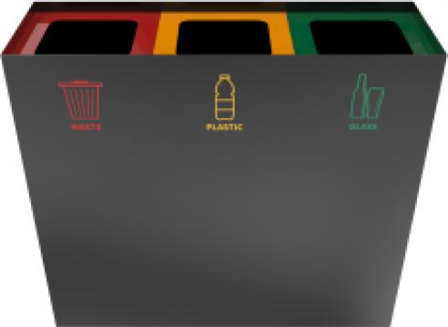 Cos de gunoi compact din metal Casiri PC de la Forward Support Srl