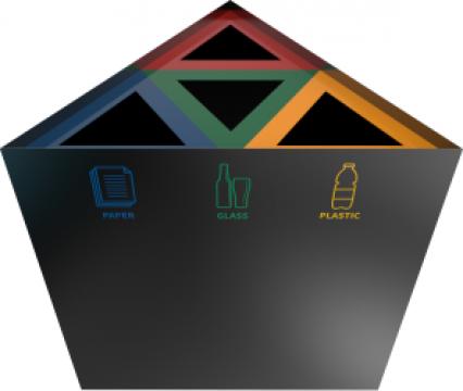 Cosuri de gunoi triunghiulare din metal Kunka PC de la Forward Support Srl
