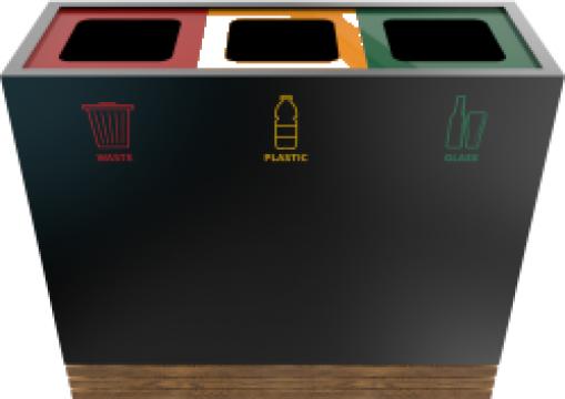 Cos de gunoi din metal si lemn Tacora PC de la Forward Support Srl