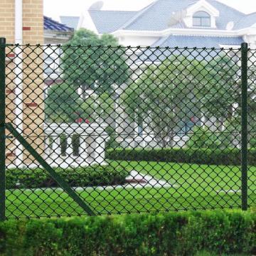 Gard de sarma 1 x 25 m verde cu stalpi si accesorii