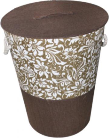 Cos rufe baie cu capac 42xH50cm Raki Sedros cafea de la Basarom Com