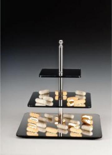 Suport acrilic pentru oglinda cu trei niveluri H45cm de la Basarom Com