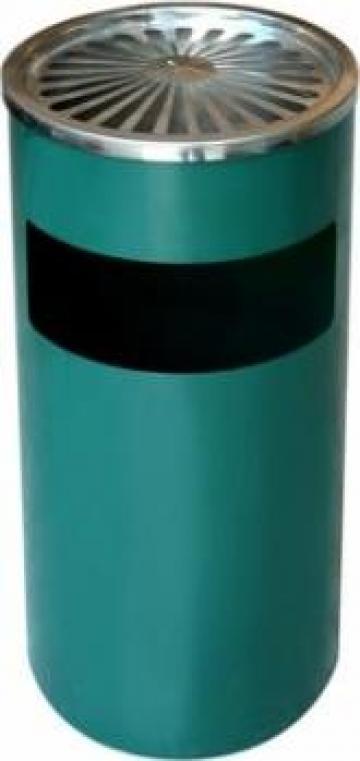 Scrumiera exterioara Icikala cu cos gunoi, 25xh61cm verde de la Basarom Com