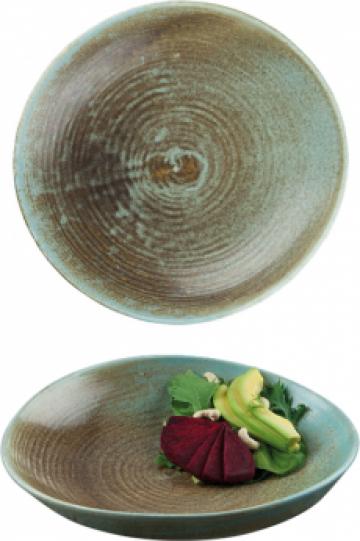 Farfurie ceramica adanca Bonna colectia Coral 26cm de la Basarom Com