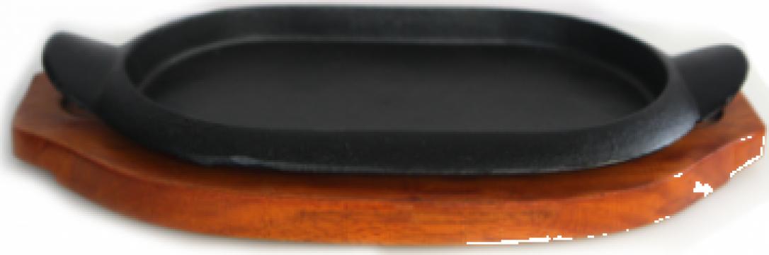 Tigaie fonta Etno ovala 20,5x17cm, cu manere de la Basarom Com