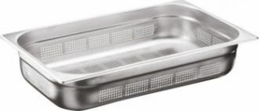 Tava inox perforata gastronorm Ozti 1-1 GNP 100mm de la Basarom Com